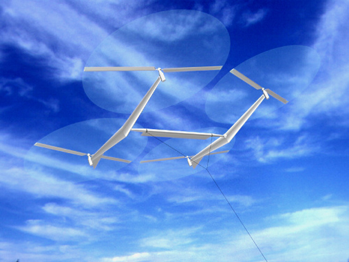 A rendering of one possible high altitude wind capture design