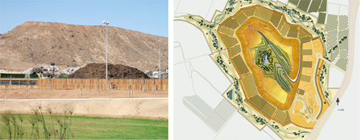 The Hiriya Landfill and the master Plan for Ariel Sharon Park.