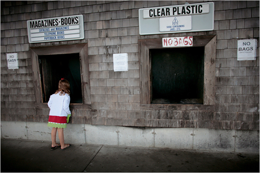 Waste sorting in Nantucket, a model for zero-waste, has reduced the amount of waste sent to landfill to 8%, compared with 66% in Massachusetts as a whole.  The city has accomplished this through diligent sorting, an expansion of mandated recycling, industrial composting and a community swap shop.