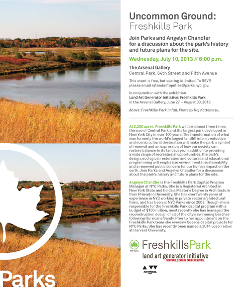 Uncommon Ground: A Freshkills Park Talk