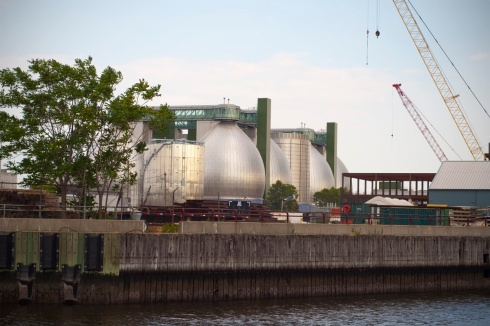 Newtown Creek Digester Eggs in Greenpoint, photo courtesy of 7 Stops Magazine